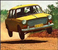 Morris 1100 leaps in the air