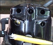 Photo shows distributor cap
