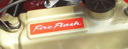 Fireflash rocker cover sticker