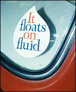 floats on fluid sticker